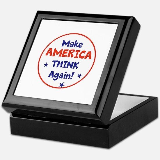 Make America Think Again Keepsake Box
