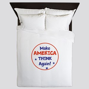 Make America Think Again Queen Duvet