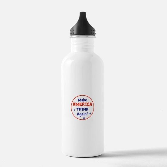Make America Think Again Water Bottle