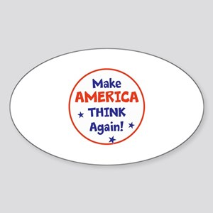 Make America Think Again Sticker
