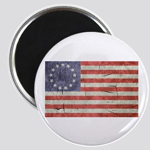 Betsy Ross Worn 13 Star Flag Magnet