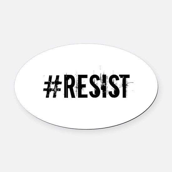 #RESIST Oval Car Magnet
