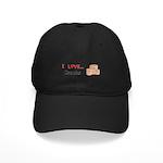I Love Crocks Black Cap