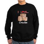 I Love Crocks Sweatshirt (dark)