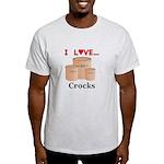 I Love Crocks Light T-Shirt