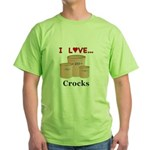 I Love Crocks Green T-Shirt