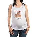 I Love Crocks Maternity Tank Top