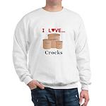 I Love Crocks Sweatshirt