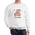 I Love Crocks Sweatshirt