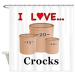 I Love Crocks Shower Curtain