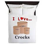 I Love Crocks Queen Duvet