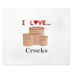 I Love Crocks King Duvet