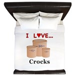 I Love Crocks King Duvet