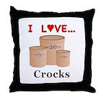 I Love Crocks Throw Pillow