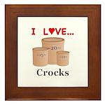 I Love Crocks Framed Tile
