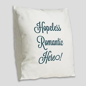 Hopeless Romantic Burlap Throw Pillow