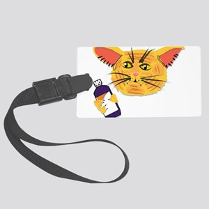 Codeine Cat Large Luggage Tag