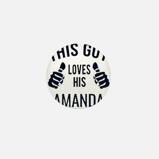 Amanda- love Mini Button