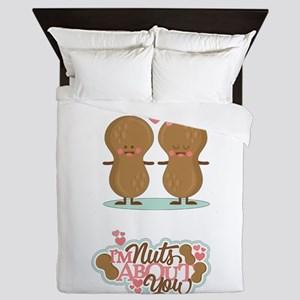 I'm Nuts About You Queen Duvet