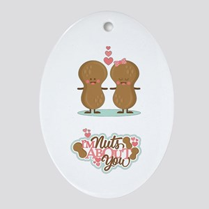 I'm Nuts About You Oval Ornament