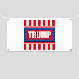 Trump - American Flag Banner