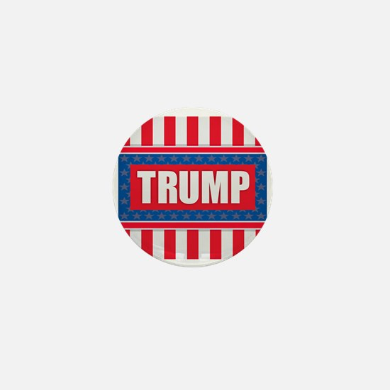 Trump - American Flag Mini Button