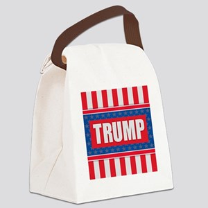 Trump - American Flag Canvas Lunch Bag