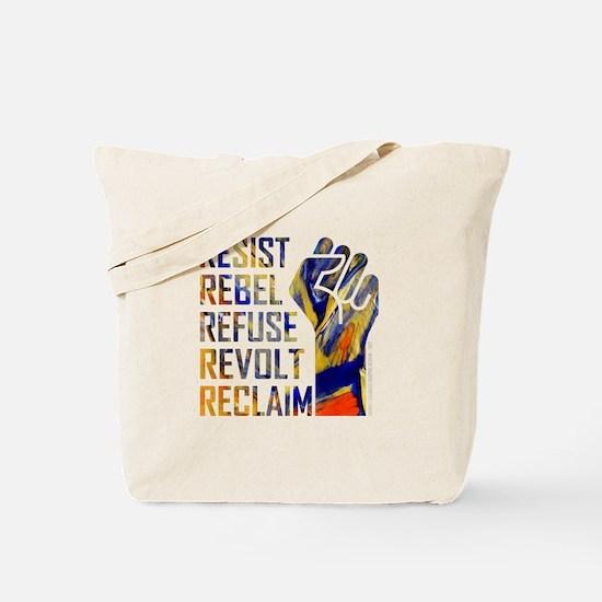 RESIST, REBEL... Tote Bag