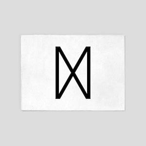 Dagaz (The Rune Of Dawn) 5'x7'Area Rug