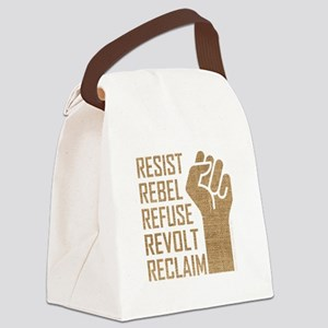 RESIST, REBEL... Canvas Lunch Bag
