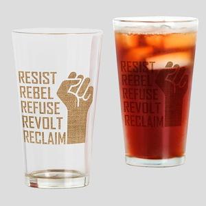 RESIST, REBEL... Drinking Glass