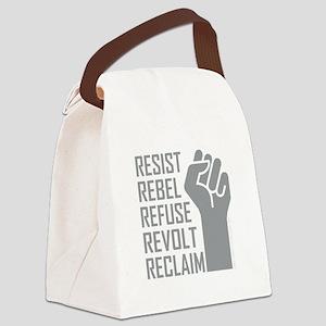 RESIST, REBEL... Canvas Lunch Bag