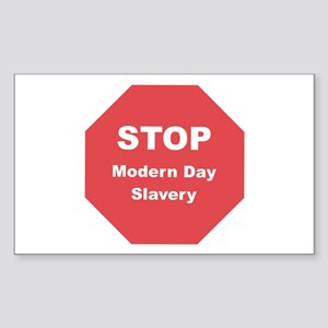STOP Modern Day Slavery Rectangle Sticker