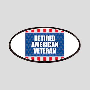 Retired American Veteran Patch