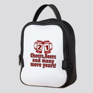 21 Cheers Beers And Many More Y Neoprene Lunch Bag