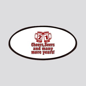 21 Cheers Beers And Many More Years Patch