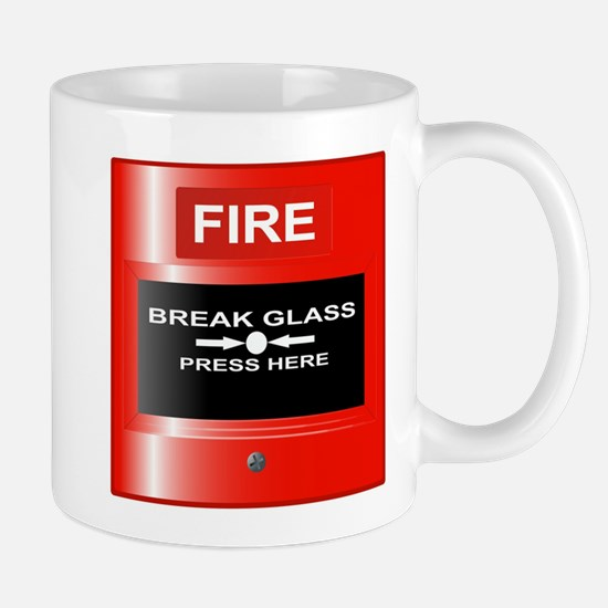 Fire Emergency Red Button Mugs