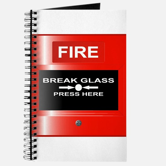 Fire Emergency Red Button Journal