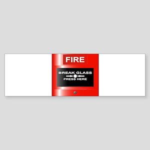Fire Emergency Red Button Bumper Sticker