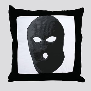 Criminal Mask Throw Pillow