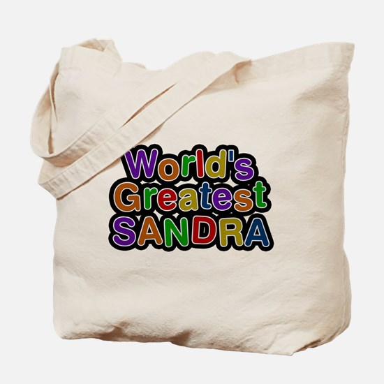 Worlds Greatest Sandra Tote Bag