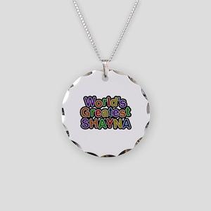 World's Greatest Shayna Necklace Circle Charm