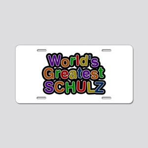 World's Greatest Schulz Aluminum License Plate