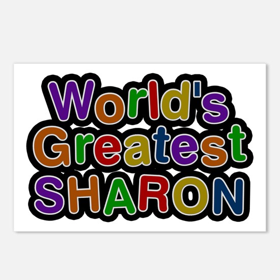 World's Greatest Sharon Postcards 8 Pack