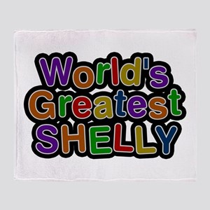 World's Greatest Shelly Throw Blanket