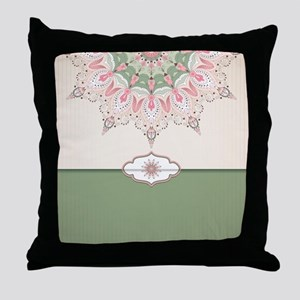 Decorative Floral Throw Pillow