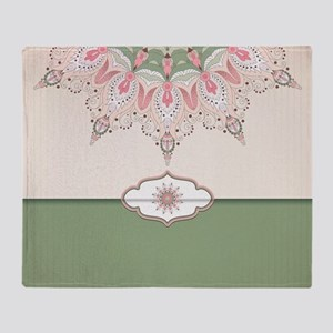 Decorative Floral Throw Blanket