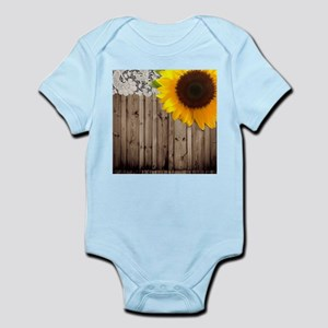rustic barn yellow sunflower Body Suit