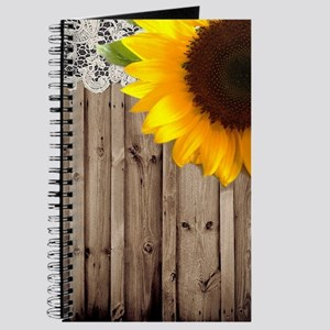 rustic barn yellow sunflower Journal