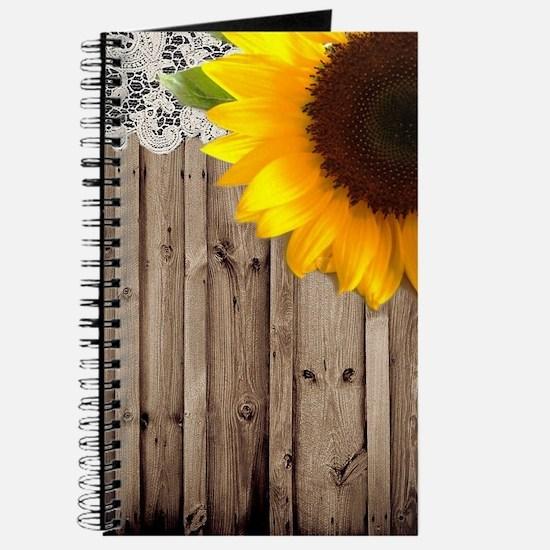 rustic barn yellow sunflower Journal